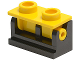 Part No: 3937c15  Name: Hinge Brick 1 x 2 Complete Assembly with Yellow Top Plate
