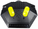 Part No: 40529c01  Name: Electric, Train 9V RC Train Remote Control, Dark Bluish Gray Bottom, Yellow Buttons