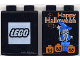 Part No: 4066pb122  Name: Duplo, Brick 1 x 2 x 2 with Halloween 2001 Happy Halloween Pattern (Lego logo)