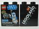 Part No: 4066pb326  Name: Duplo, Brick 1 x 2 x 2 with Star Wars 2008 Fireworks Legoland Windsor Pattern
