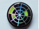 Part No: 4150pb081  Name: Tile, Round 2 x 2 with Holographic Radar Type 2 Pattern (Sticker) - Set 7646