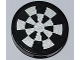 Part No: 4150pb120  Name: Tile, Round 2 x 2 with Dart Board (Dejarik Hologame Board) Pattern (Sticker) - Set 7965