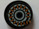 Part No: 4150pb174  Name: Tile, Round 2 x 2 with Coiled Round of Bullets (Ammunition Belt) Pattern (Sticker) - Set 7645