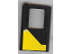 Part No: 4181pb006  Name: Door 1 x 4 x 5 Train Left with Yellow Modified Triangle Pattern (Sticker) - Set 5542