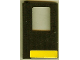 Part No: 4181pb007  Name: Door 1 x 4 x 5 Train Left with Yellow Stripe Pattern (Sticker) - Set 5542