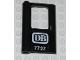 Part No: 4181pb023  Name: Door 1 x 4 x 5 Train Left with 'DB 7727' Pattern (Sticker) - Set 7727