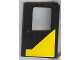Part No: 4182pb006  Name: Door 1 x 4 x 5 Train Right with Yellow Modified Triangle Pattern (Sticker) - Set 5542