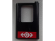Part No: 4182pb038  Name: Door 1 x 4 x 5 Train Right with Train Logo White on Red Background Pattern (Sticker) - Set 60026