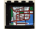 Part No: 4215pb024  Name: Panel 1 x 4 x 3 with Map Street Pattern 1 on Inside (Sticker) - Set 6398