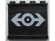 Part No: 4215pb045  Name: Panel 1 x 4 x 3 with Train Logo White Pattern on Inside (Sticker) - Set 4565