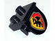 Part No: 42236px2  Name: Duplo, Plate 1 x 2 with Overhang with Dragon on Red and Yellow Shield Pattern