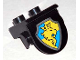 Part No: 42236px3  Name: Duplo, Plate 1 x 2 with Overhang with Lion and Crown on Yellow and Blue Shield Pattern
