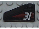 Part No: 4286pb004  Name: Slope 33 3 x 1 with White Number 31 on Red Stripes Pattern Model Left (Sticker) - Set 6639
