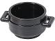 Part No: 4341  Name: Minifigure, Utensil Pot Cauldron 3 x 3 x 1 & 3/4 with Handles