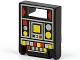 Part No: 4346pb05  Name: Container, Box 2 x 2 x 2 Door with Slot and Red and Yellow Controls Pattern