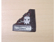 Part No: 43708pb01L  Name: Wedge 4 x 4 (Slope 18 Corner) with Silver and Dark Red Circuitry and Skull Pattern (Stickers) - Set 7702