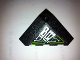 Part No: 43708pb03L  Name: Wedge 4 x 4 (Slope 18 Corner) with Silver and Lime Circuitry Pattern (Sticker) - Set 7713