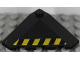 Part No: 43708pb04L  Name: Wedge 4 x 4 (Slope 18 Corner) with Black and Yellow Danger Stripes Pattern Left (Sticker) - Set 7713
