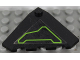 Part No: 43708pb05L  Name: Wedge 4 x 4 (Slope 18 Corner) with Lime Circuitry Pattern Model Left Side (Sticker) - Set 7713