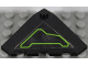 Part No: 43708pb05R  Name: Wedge 4 x 4 (Slope 18 Corner) with Lime Circuitry Pattern Model Right Side (Sticker) - Set 7713
