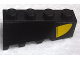 Part No: 43720pb02  Name: Wedge 4 x 2 Sloped Right with Yellow Curve Pattern (Sticker) - Set 8161