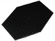 Part No: 44666  Name: Plate, Modified 14 x 18 x 1, Hexagonal with Raised 2 x 4 Bottom with 3 Pin Holes