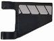 Part No: 44676pb040L  Name: Flag 2 x 2 Trapezoid with White Stripes on Black Background Pattern Model Left Side (Sticker) - Set 76104