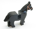Part No: 4493c01pb02  Name: Horse with Black Eyes Circled with White, Brown Bridle Pattern