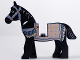 Part No: 4493c01pb06  Name: Horse, Prince of Persia with Black and White Eyes, White Pupils and Sand Blue and Gold Bridle and Persian Blanket Pattern (Aksh)