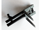Part No: 4518bc02  Name: Vehicle, Forklift Wide 1 x 2 Hinge Plate Locking and Dark Bluish Gray Wide Forks Reinforced