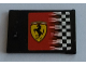 Part No: 4533pb017R  Name: Container, Cupboard 2 x 3 x 2 Door with Checkered Flag and Ferrari Logo Pattern Right (Sticker) - Set 8144