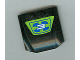 Part No: 45677pb013  Name: Wedge 4 x 4 x 2/3 Triple Curved with Number 3 on Blue and Lime Pattern (Sticker) - Set 8663