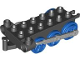 Part No: 4580c04  Name: Duplo, Train Steam Engine Chassis with Light Bluish Gray Drive Rod and Blue Wheels
