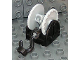 Part No: 4654c05  Name: Duplo Hose Reel Holder 2 x 2 with Light Bluish Gray Drum, Black Tow Hook, String