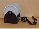 Part No: 4654c06  Name: Duplo Hose Reel Holder 2 x 2 with Light Gray Drum, Black Tow Hook, String