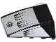 Part No: 47753pb048  Name: Wedge 4 x 4 No Top Studs with Air Intakes and Filler Cap on Silver Background Pattern (Stickers) - Set 8132