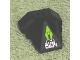Part No: 47757pb04  Name: Wedge 4 x 4 Pyramid Center with Lime Diamond and Silver '8104' Circuitry Pattern (Sticker) - Set 8104