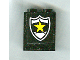 Part No: 4864apb008  Name: Panel 1 x 2 x 2 - Solid Studs with Yellow Star on Black and White Police Badge Pattern (Sticker) - Set 1786