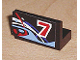 Part No: 4865pb010  Name: Panel 1 x 2 x 1 with Number 7 on Right and Blue, White and Red Swirls Pattern (Sticker) - Set 8223