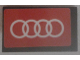 Part No: 4865pb068  Name: Panel 1 x 2 x 1 with White Audi Logo on Red Background Pattern (Sticker) - Set 75873