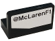 Part No: 4865pb070R  Name: Panel 1 x 2 x 1 with '@McLarenF1' Pattern Model Right Side (Sticker) - Set 75911
