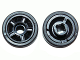 Part No: 50944c01  Name: Wheel 11mm D. x 6mm with 5 Spokes with Black Tire 14mm D. x 6mm Solid Smooth (50944 / 50945)