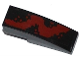 Part No: 50950pb076L  Name: Slope, Curved 3 x 1 No Studs with Dark Red Spatter Pattern Left (Sticker) - Set 76020