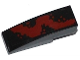 Part No: 50950pb076R  Name: Slope, Curved 3 x 1 No Studs with Dark Red Spatter Pattern Right (Sticker) - Set 76020