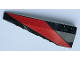 Part No: 50955pb023  Name: Wedge 10 x 3 Left with Red Stripe Pattern