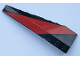 Part No: 50956pb023  Name: Wedge 10 x 3 Right with Red Stripe Pattern
