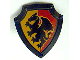Part No: 51711pb02  Name: Duplo Utensil Shield, Angled Triangle with Black Dragon Pattern