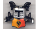 Part No: 51727pb01  Name: Duplo Wear Head Armor with Silver Face Shield and Black Top and Red and Yellow Breastplate and Dragon Pattern
