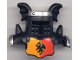 Part No: 51727pb02  Name: Duplo Wear Head Armor with Black Face Shield and Silver Top and Red and Yellow Breastplate and Dragon Pattern
