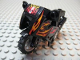 Part No: 52035c02pb07  Name: Motorcycle City, Complete Assembly with Black Chassis, LBG Wheels and Fairing with Red and Yellow Flames and Number 13 Pattern (Stickers) - Set 8896